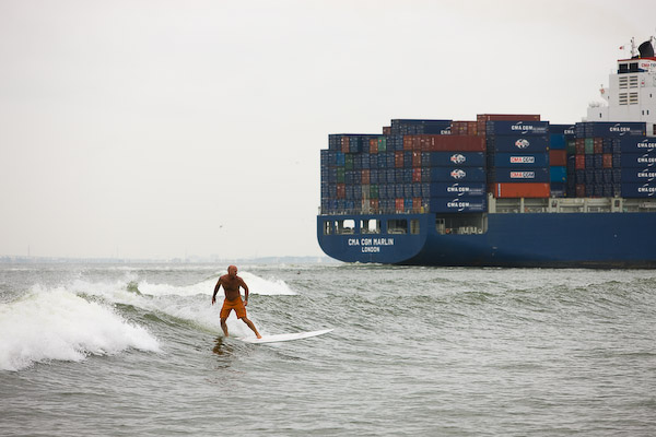 Tanker Surfing in Galveston, Texas